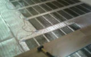 Укладка винилового ламината на теплый пол