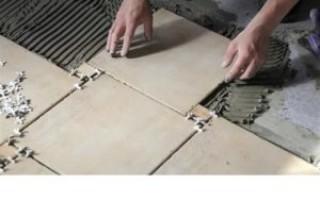 Укладка плитки на пол своими руками