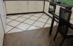 Комбинированный пол из плитки и ламината на кухне и в коридоре
