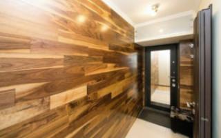 Ламинат на стене в прихожей, детской комнате и туалете