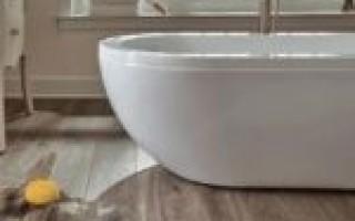 Виниловый ламинат для ванной комнаты — вытесняя традиции