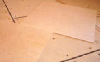 Укладка фанеры под ламинат