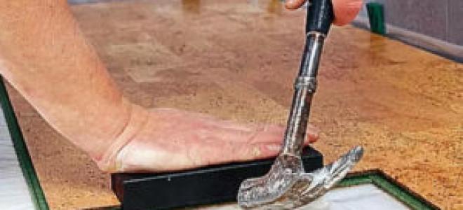 Укладка пробкового ламината своими руками