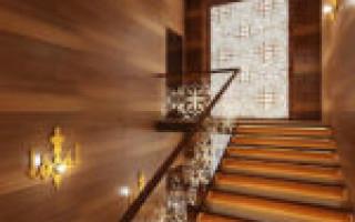 Отделка ламинатом лестниц и стен