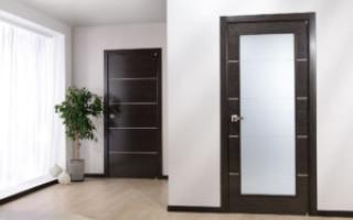 Сочетание межкомнатных дверей и ламината в интерьере