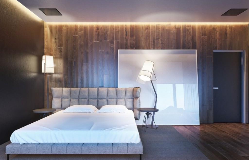 Ламинат в спальне создает уют