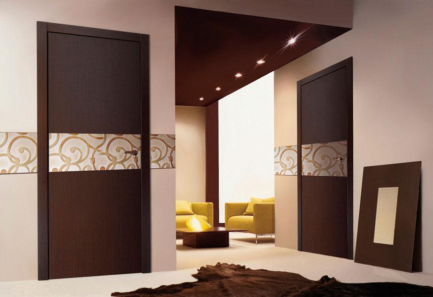 дверь венге и ламинат