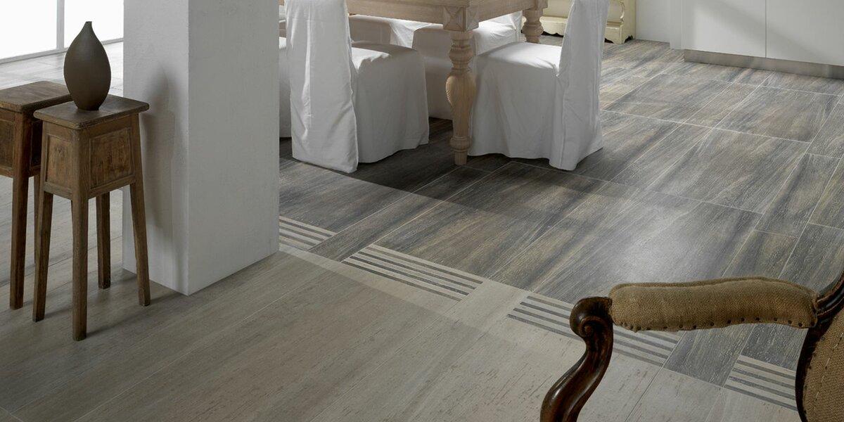 ламинированный пол с плиткой