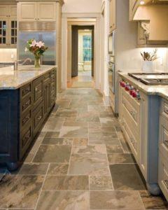 ламинат или плитка в кухне