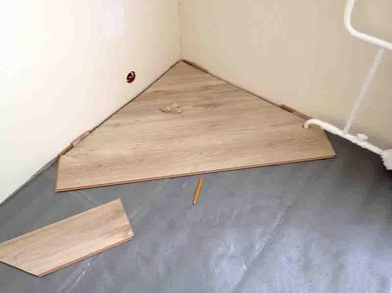 Угловой метод укладки ламината