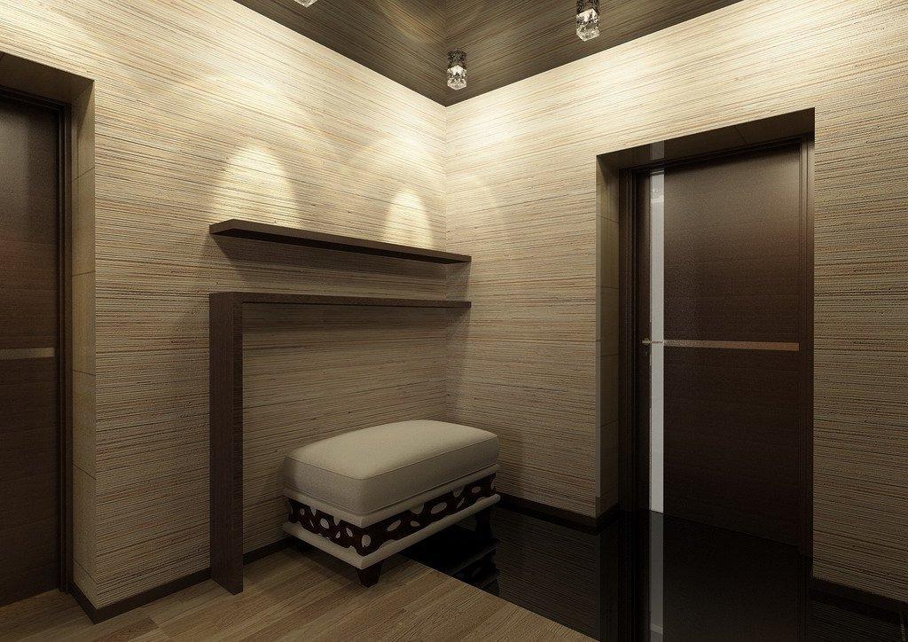 Ламинат на стене в коридоре