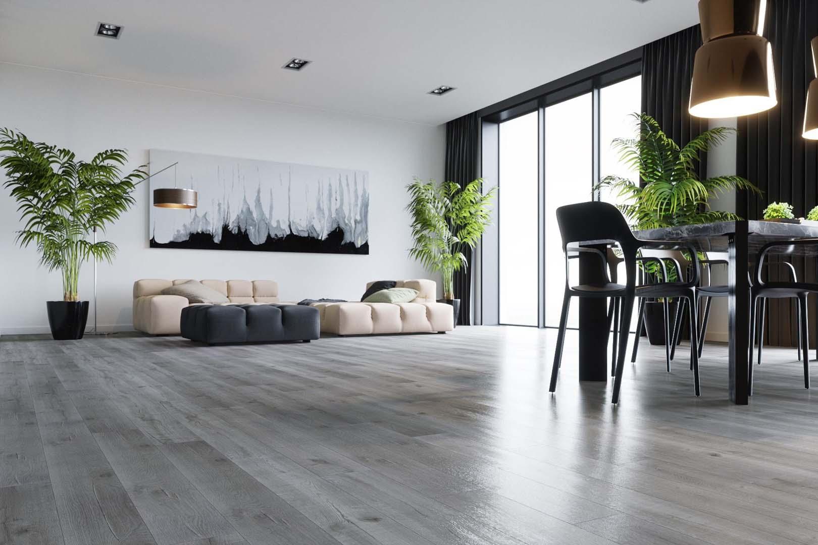 серый линолеум в гостиной