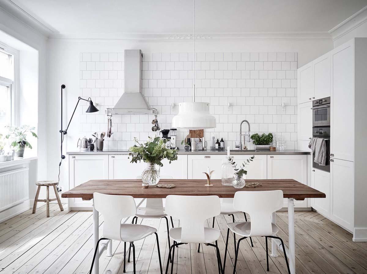 Ламинат в скандинавской кухне