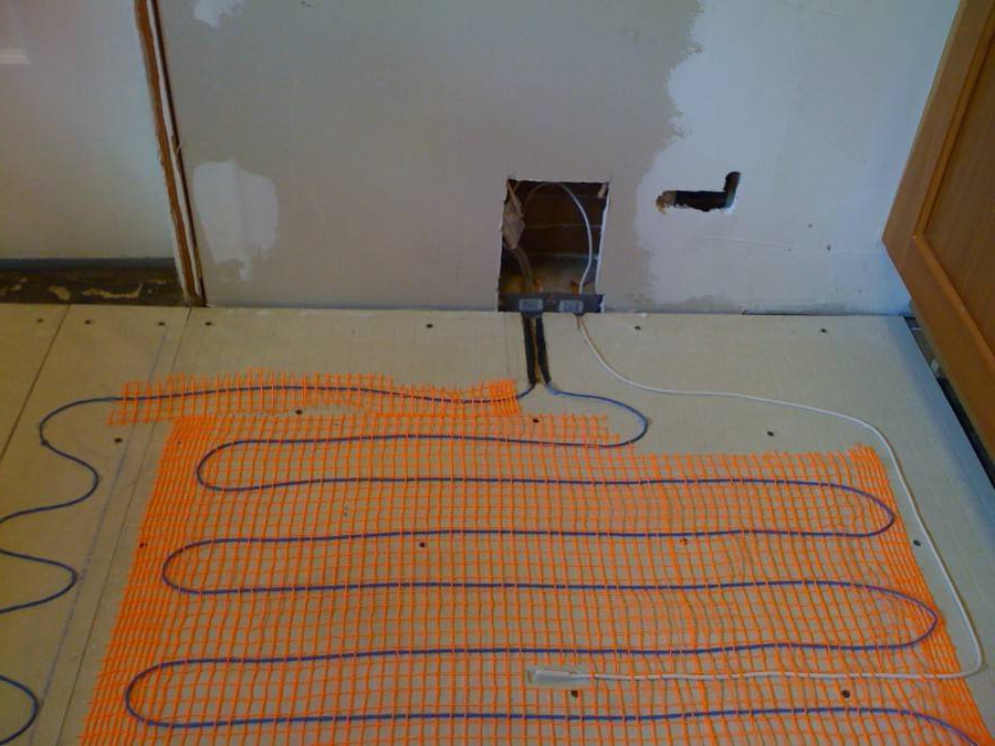подключение водяного пола под плитку