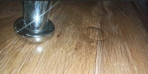 вмятины на линолеуме от мебели